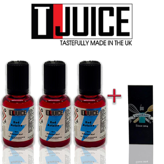 T-Juice - Red Astaire 30ml 3er Pack Sparpaket Bundle + 1x...